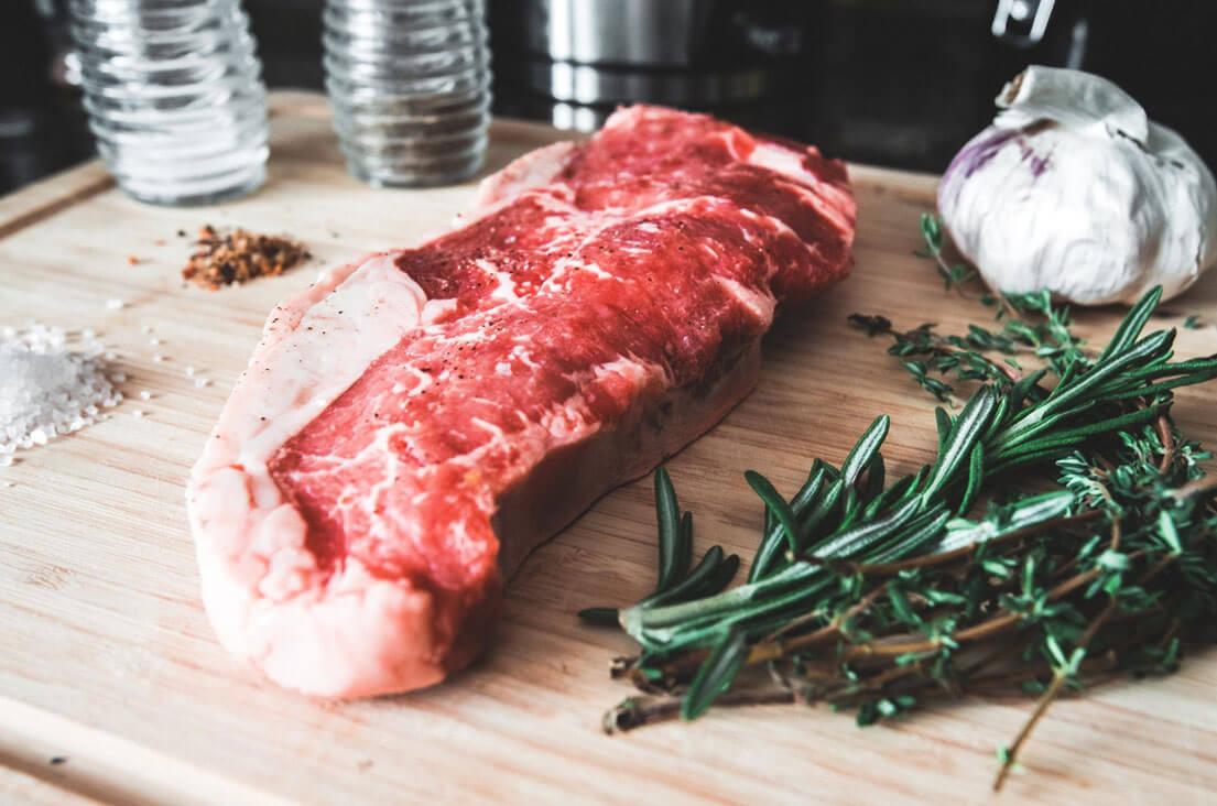Sirloin Steak & Garlic